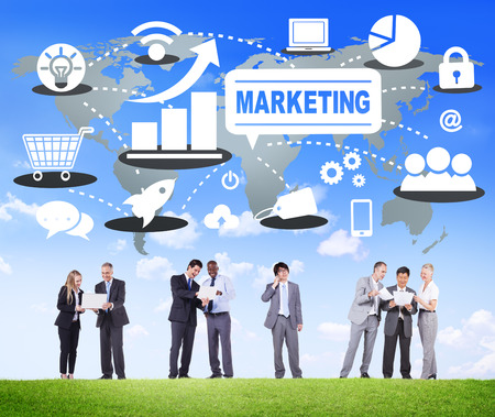 Marketing Global Business Branding Connection Groei Concept
