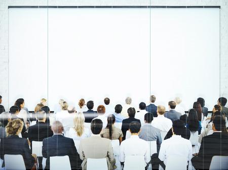 presentation screen: Business People Meeting Presentation Team Concept