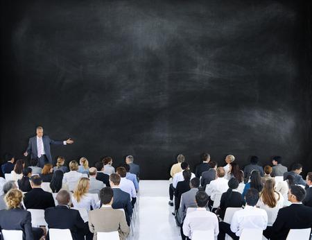 leader: Altavoz Gente de negocios L�der Reuni�n Trabajo en equipo Concepto