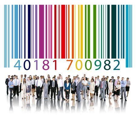 Bar Code Identity Marketing Concept Stock Photo