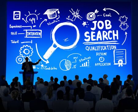Multiethnic Business Group Job Search Seminar Conference Concept photo