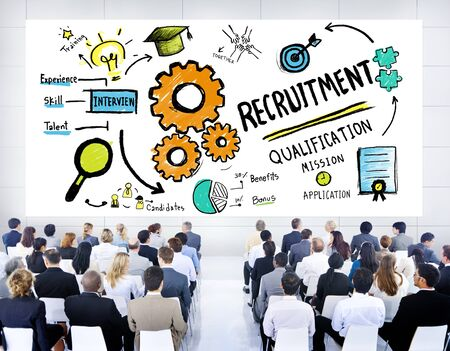 Business People Seminar Recruitment Presentation Concept photo
