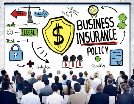 Crowd People Seminar Safety Risk Business Insurance Concept photo