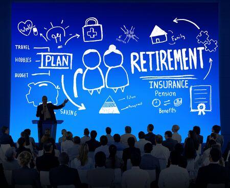 Business People Employee Retirement Presentation Seminar Concept photo