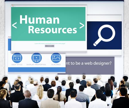 Group of Business People Seminar Human Resources Concept photo