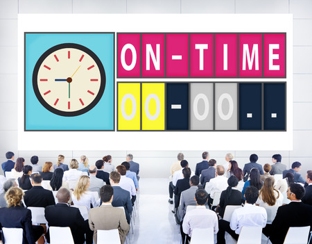 stipt: On Time Punctual Efficiency Organization Management Concept Stockfoto