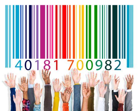 Bar Code Marketing Data Identity Concept