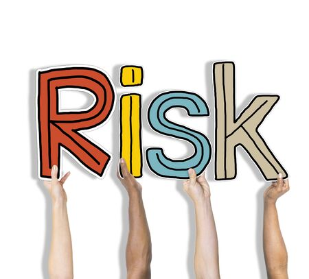 reduce risk: Risk Word Concepts Isolated on White
