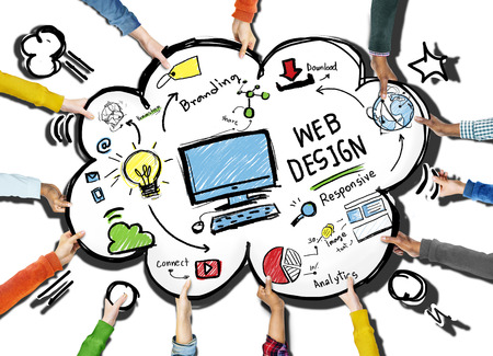 webpage: Content Creativity Digital Graphic Layout Webdesign Webpage Concept