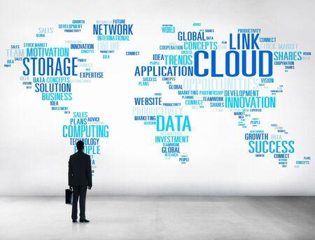 Link Cloud Computing Technology Data Information Concept photo