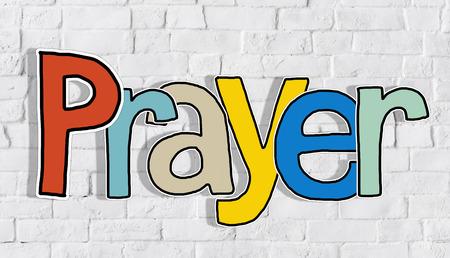 Gebed Word Begrippen die op achtergrond