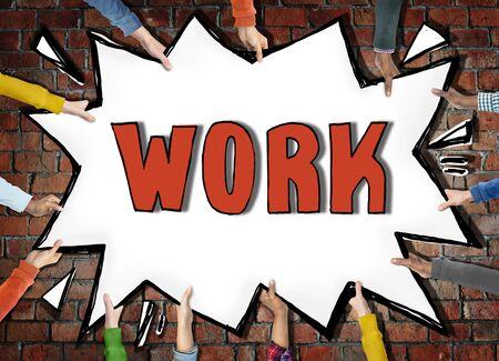 employment: Work Employment Job Occupation Career Recruitment Hiring Concept Stock Photo