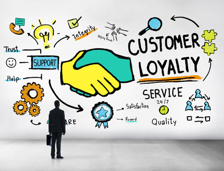 Customer Loyalty Service Support Care Trust Business Concept photo