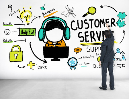 customer support: Customer Service Support Assistance Service Help Guide Concept