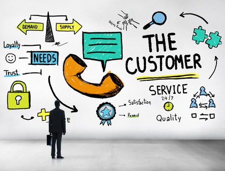 The Customer Service Target Market Support Assistance Concept photo