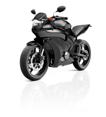 propulsion: Illustration of Transportation Sport Motorbike Racing Concept