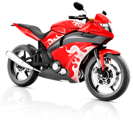 propulsion: Motorcycle Motorbike Bike Riding Rider Contemporary Red Concept