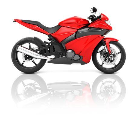 motorbike: Illustration of Transportation Sport Motorbike Racing Concept