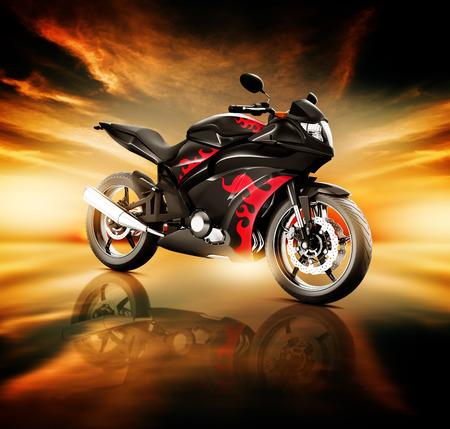 land vehicle: Motorcycle Land Vehicle Transportation Luxury Motorbike Elegance Concept