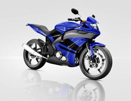 bike riding: Motorcycle Motorbike Bike Riding Rider Contemporary Blue Concept