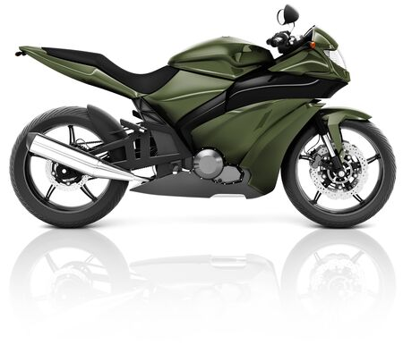 propulsion: Motorcycle Motorbike Bike Riding Rider Contemporary Green Concept