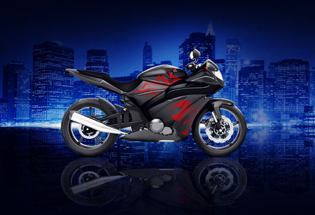 propulsion: Motorcycle Motorbike Bike Riding Rider Contemporary Black Concept