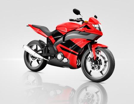 bike riding: Motorcycle Motorbike Bike Riding Rider Contemporary Red Concept