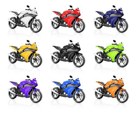 オートバイ バイク自転車ライダー現代的な光沢のあるコンセプト