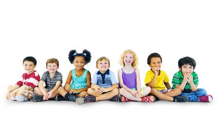 Children Kids Happines Multiethnic Group Cheerful Concept 版權商用圖片
