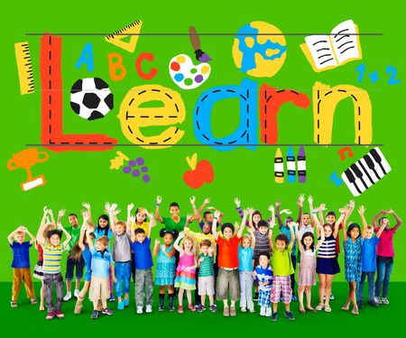 euphoric: Learn Learning Study Knowledge School Child Concept Stock Photo