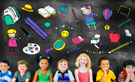 stuff: Kids School Education Toys Stuff Young Concept