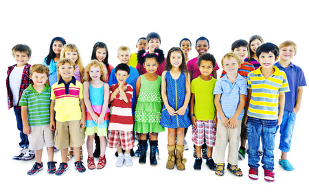 etnia: Ethnicity Diversity Gorup of Kids Friendship Cheerful Concept