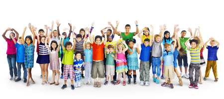 ethnic diversity: Ethnicity Diversity Gorup of Kids Friendship Cheerful Concept