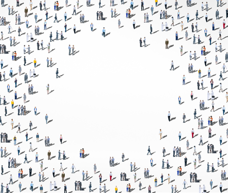 Crowd Large Group of People Multiethnic Diversity Concept Stock Photo
