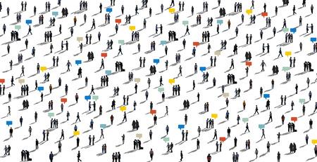 Comunicación Multitud diverso de las personas Concepto Foto de archivo - 39109364