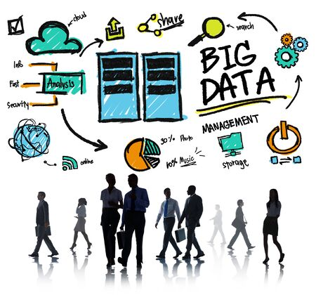 Business People Big Data Discussion Communication Concept photo