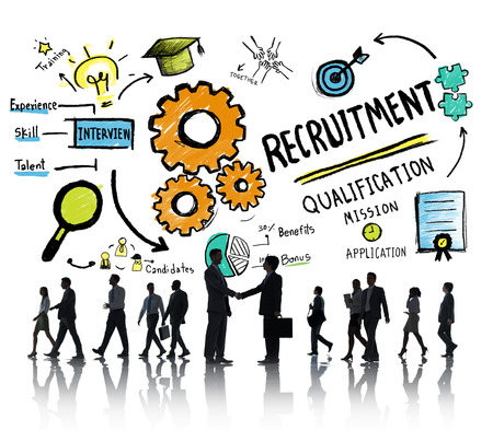 Business People Communication Recruitment Recruiting Concept Stockfoto