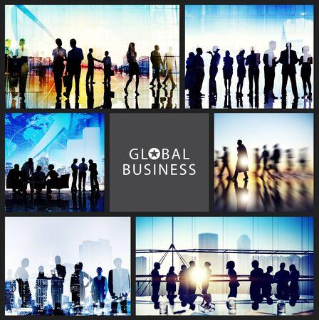 Global Business People Handshake Meeting Communication Concept