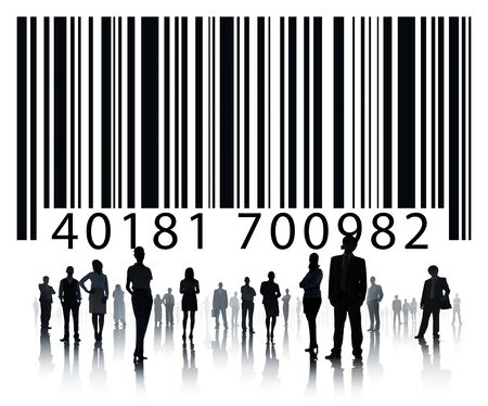 Ordinal: Business concept with bar code