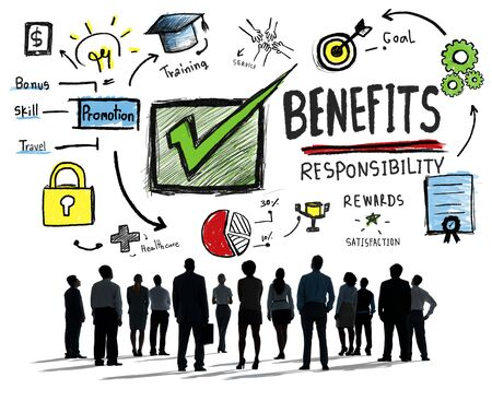 gain: Benefits Gain Profit Earning Income Business Aspiration Concept