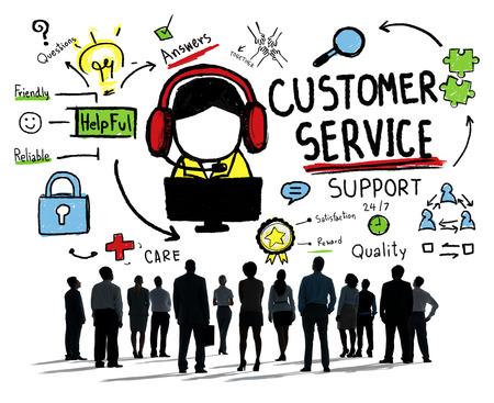 Service à la clientèle Assistance Service Aide Guide Concept Banque d'images - 39195027