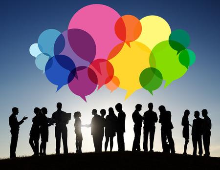 Business People Message Talking Communication Concept Stok Fotoğraf