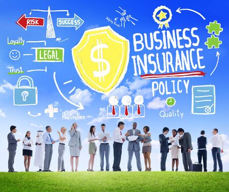 People Discussion Meeting Safety Risk Business Insurance Concept photo