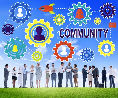 corporate culture: Community Culture Society Population Team Tradition Union Concept