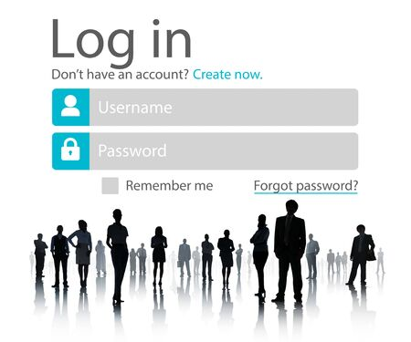 account executive: Business People Account LogIn Security Protection Concept