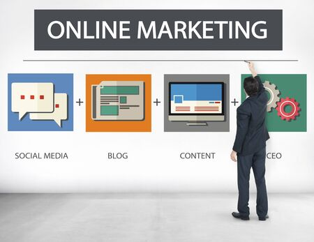 Online Marketing Business Content Strategy Target Concept photo