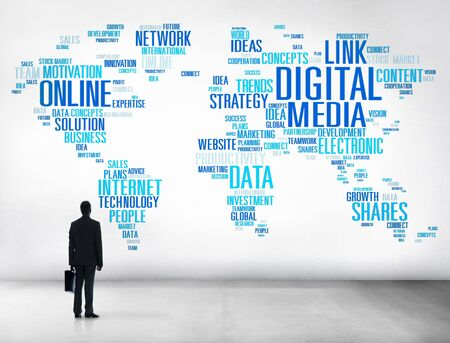 Digital Media Connecting Content Network Technology Concept photo