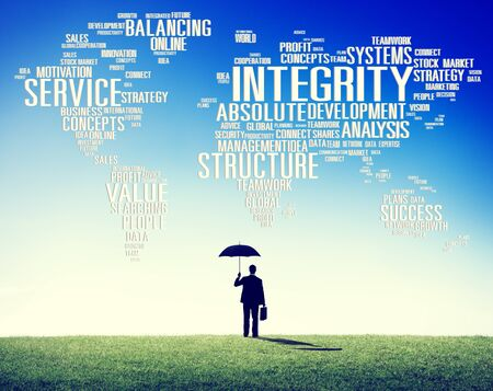 the sincerity: Integrity Honesty Sincerity Trust Reliability Concept