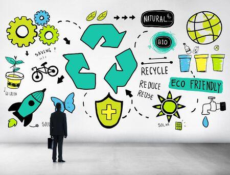 Recycle Reuse Reduce Bio Eco Friendly Environment Concept photo