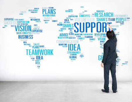 business support: Zakenman Planning Strategy Global Business Support Concept